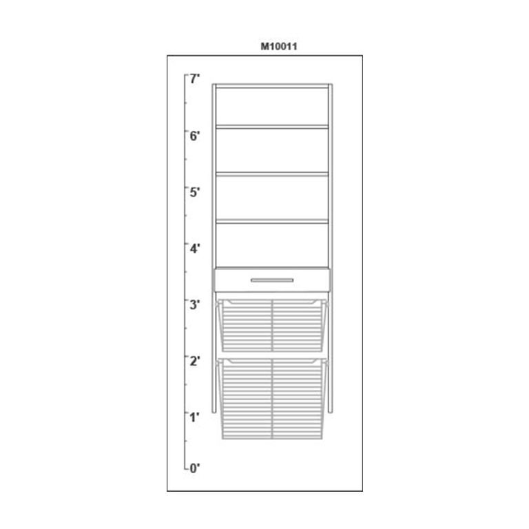 AutoCAD-Elevation closet
