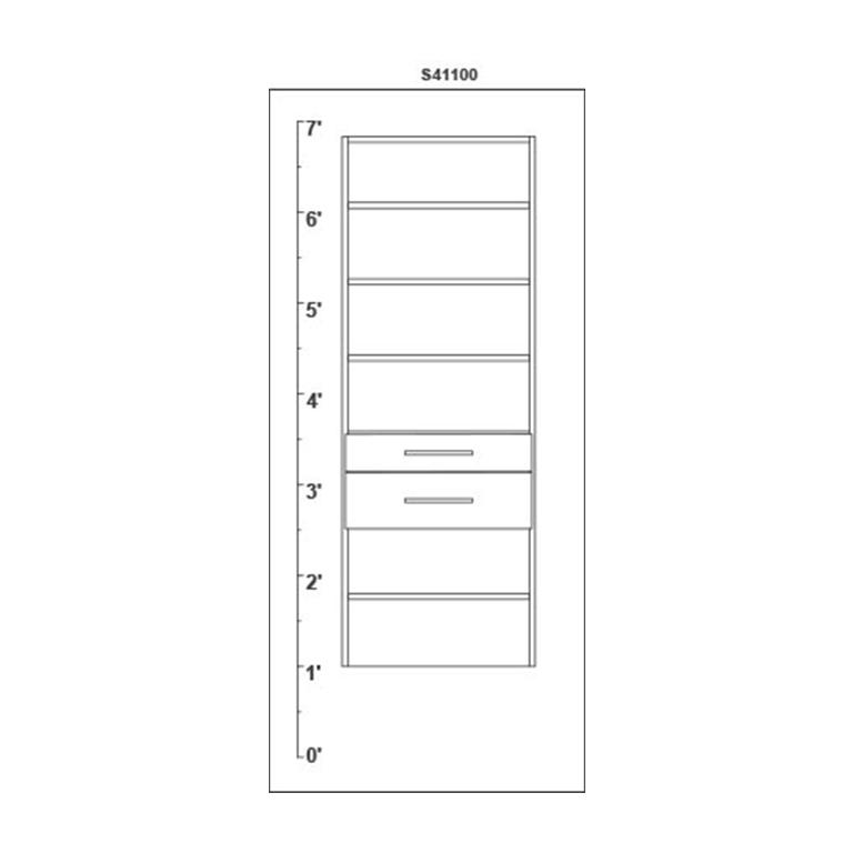 closet autocad design