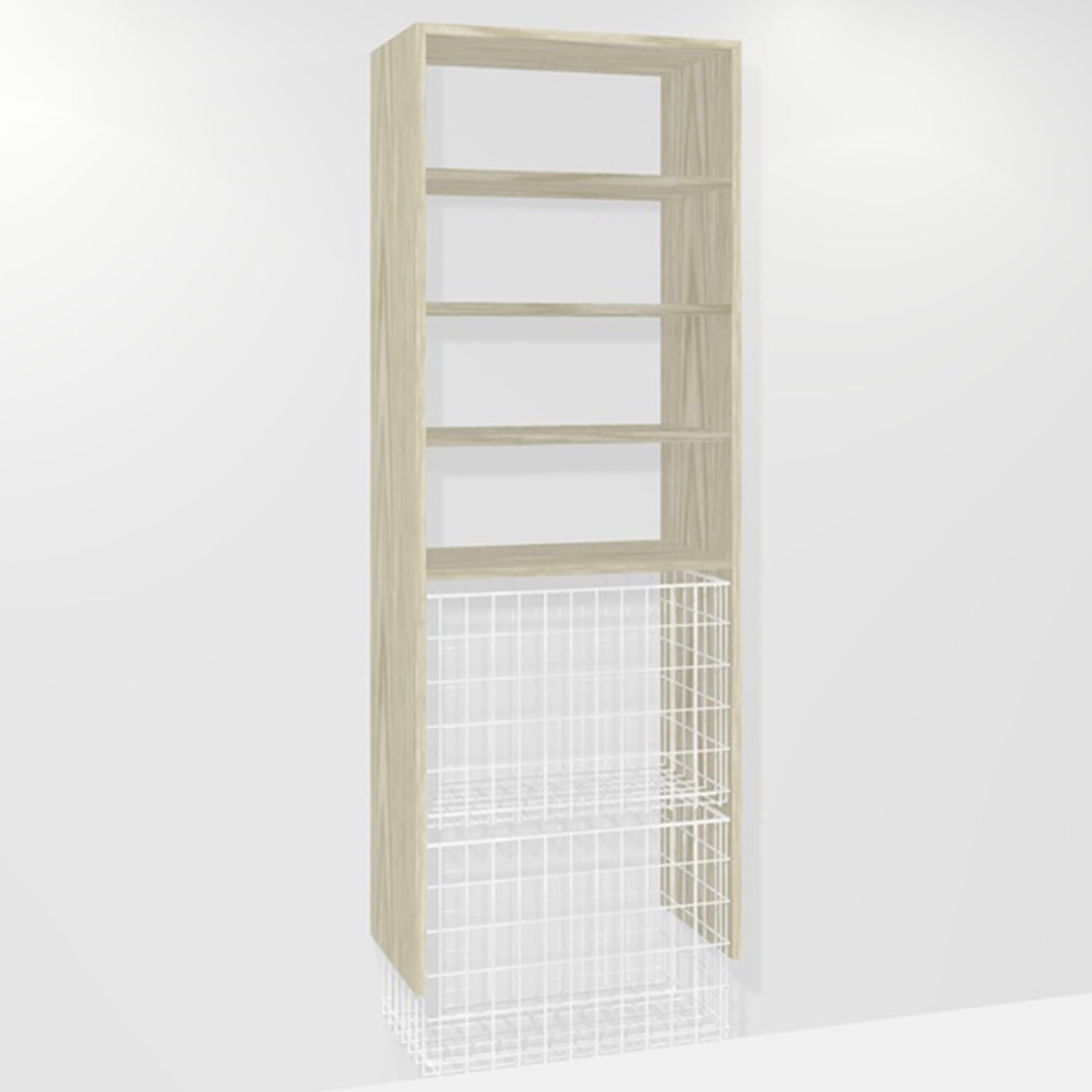 B002 (2-large basket 3-shelf)