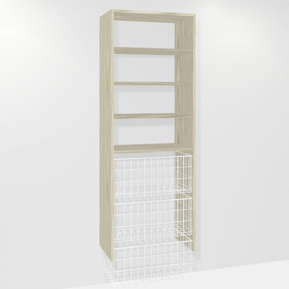 B030 (3-medium basket 3-shelf)