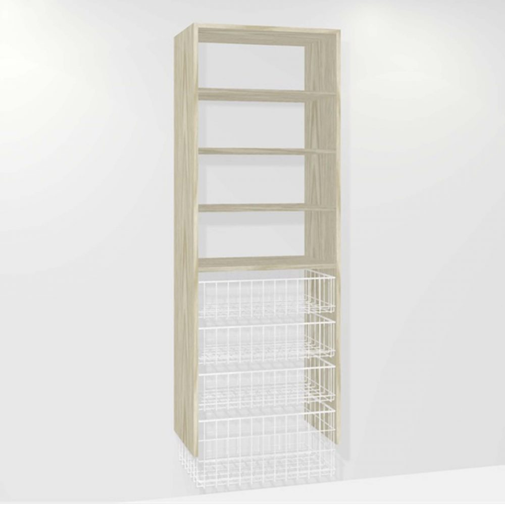 B310 (3-small basket 1-medium basket 3-shelf)