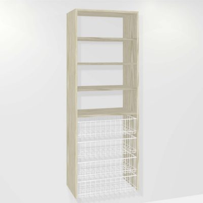 (4-small basket 3-shelf)