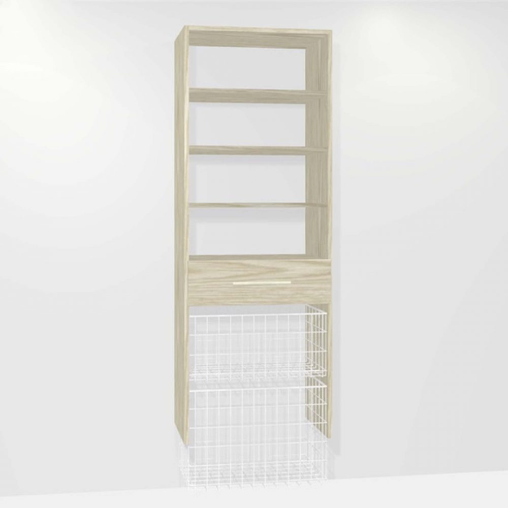 KCD Image - M01011 (1-dwr 1-medium 1-large basket 3-shelf)